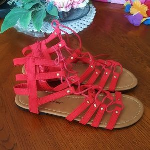 ASHLEY STEWART * FAUX SUEDE GLADIATOR SANDALS 10W